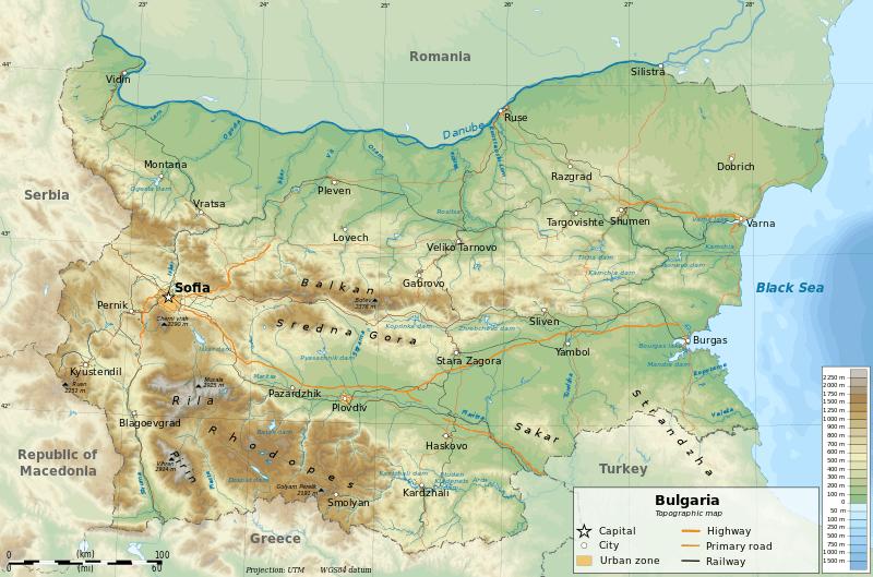 Sofia, Bulgaria Map