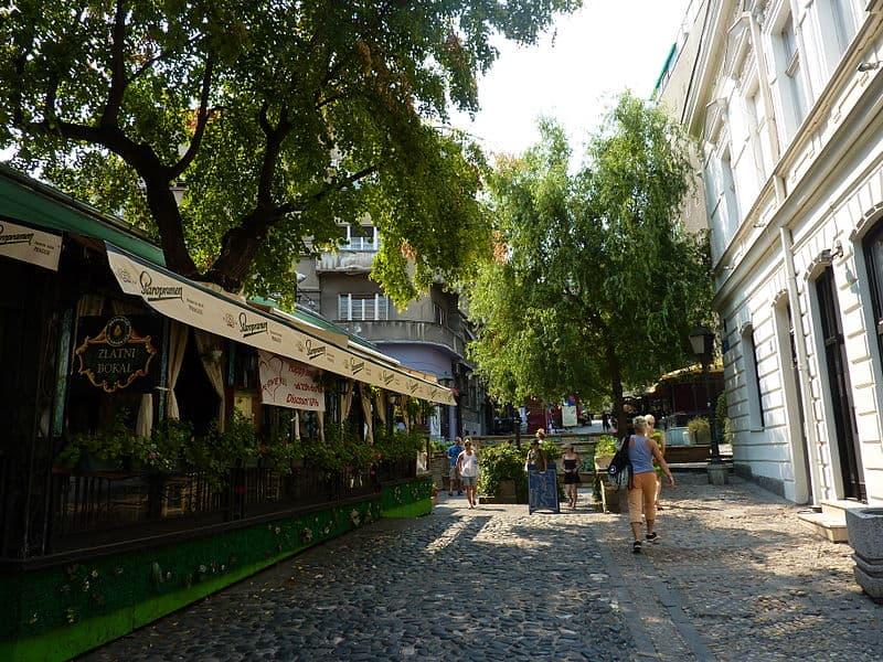 Skadarlija - Visiting Belgrade, Serbia