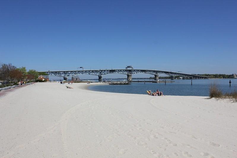 Yorktown Beach in Virginia