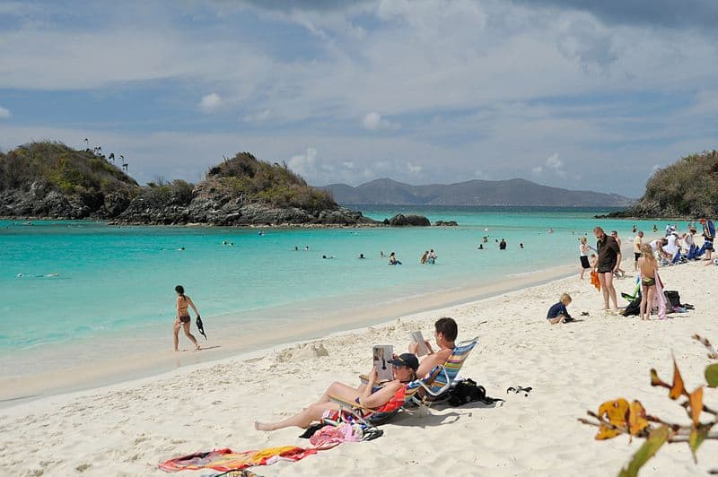 Trunk Bay Beach, St. John's, US Virgin Islands