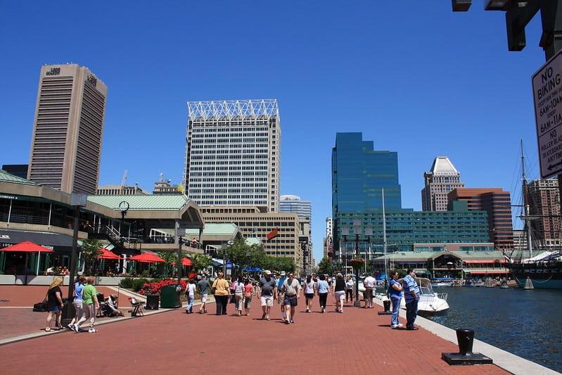 Inner Harbor area of Baltimore