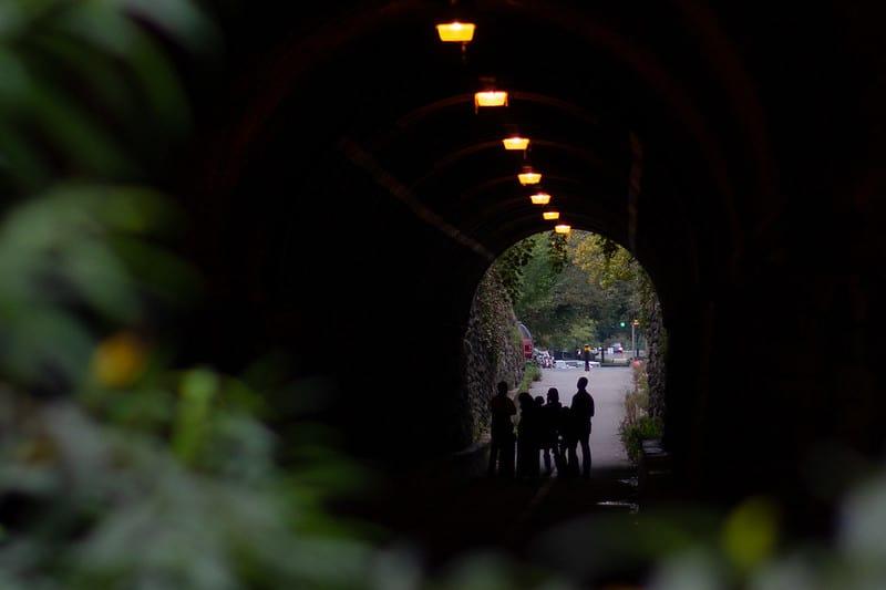 Wilkes Street Tunnel in Old Town Alexandria, Virginia