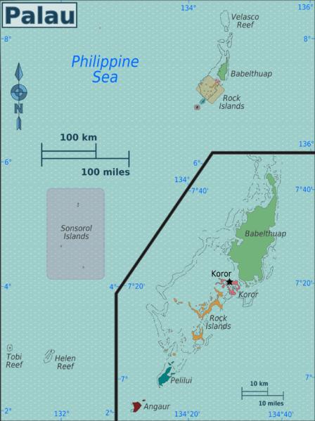 Palau-map